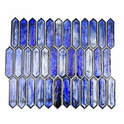 - Glass Mosaic Wall Tile for Kitchen & Bath, Soho Studio, Artemis Cobalt Ice