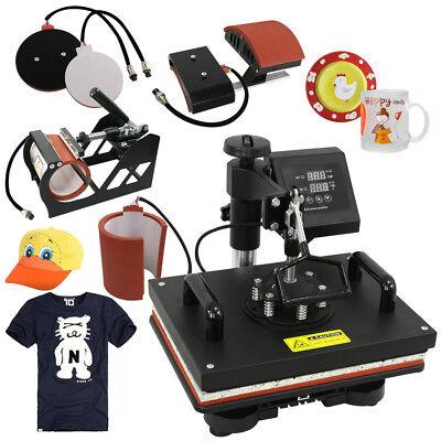 5 In 1 Transfer Sublimation T-shirt Mug Hat Plate Cap Heat Press Machine