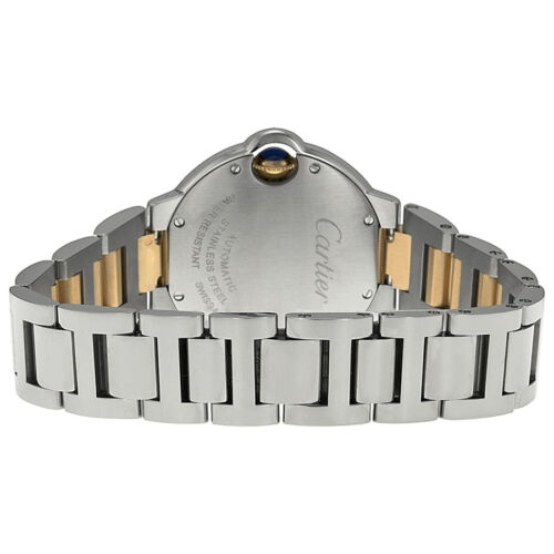 Cartier Ballon Bleu Stainless Steel and 18kt Rose Gold Ladies Watch WE902053