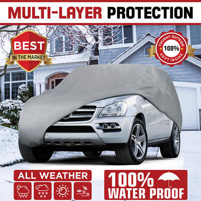 Multi Layer Genuine Waterproof SUVVan Cover for Auto Car Protect All Weather 2X
