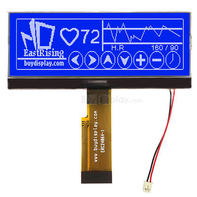 4.3blue 240x64 Graphic Lcd Module Displayparallelspi Serial Wtutorial