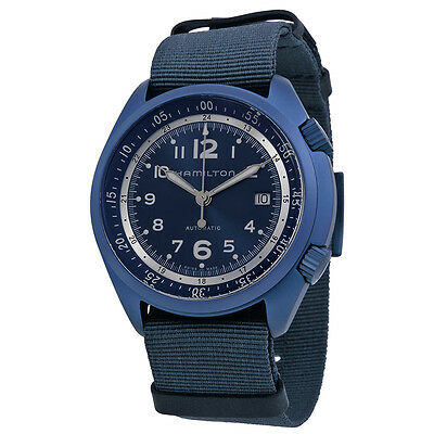 Hamilton  Khaki Aviation Pilot Pioneer Automatic Blue Canvas Strap