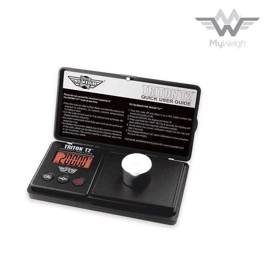 MyWeigh Digital Scale - TRITON T2-400 - Digital Weigh Scale - 400g x 0.01g