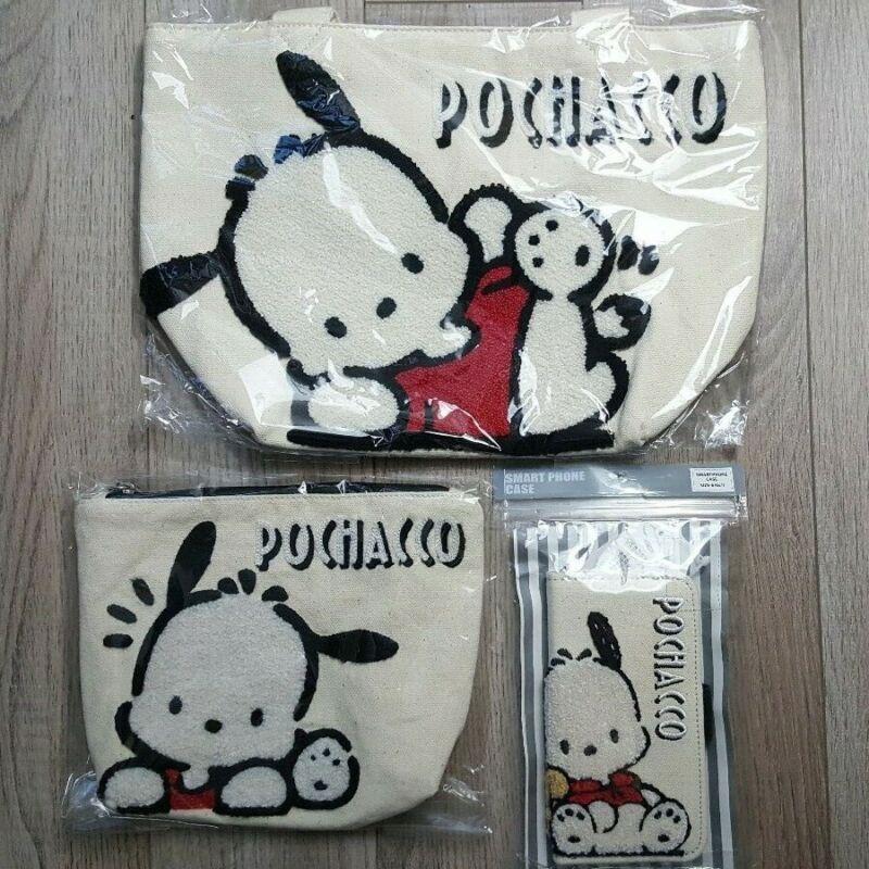 Sanrio Pochacco Tote Bag set Japan