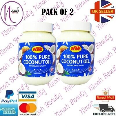 (Paquete De 2) KTC 100% Aceite Coco Puro (de Cocina,Cabello,Piel Care,Multiuso)