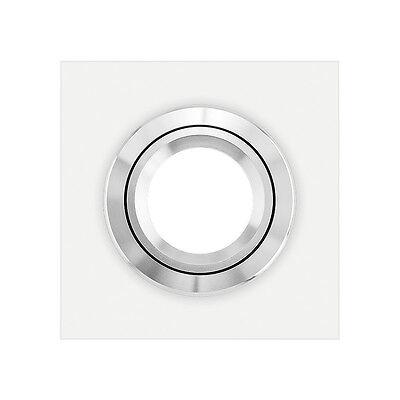 LEDOX Einbaustrahler VIDRIO Lista Einbaurahmen echtglas weiß eckig Deckenleuchte ()