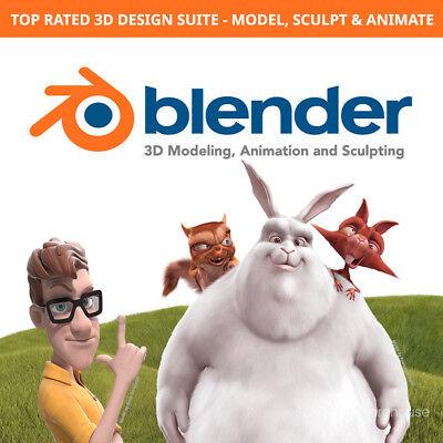 Blender 3D Design Suite - Modeling, Animation, Sculpting + FREE BONUS DVD Free 3d Software