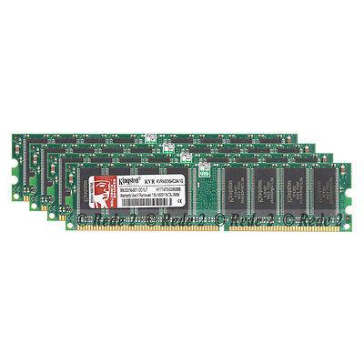 400 Mhz Ddr1 Desktop (4X1GB 4GB DDR1-400Mhz PC3200 2.5V 184Pin Low Density Dimm Desktop SDRAM Memory)
