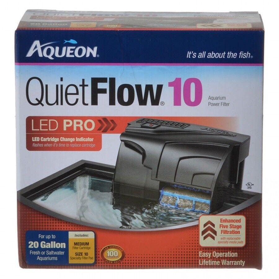 Aqueon QuietFlow LED Pro Power Filters in Models10,20,30,50,
