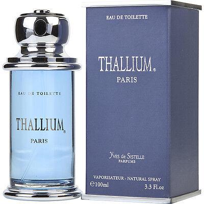 THALLIUM PERFUME  MEN'S COLOGNE 3.3 oz EDT spary NEW IN BOX*FOR MEN* FRAGRANCE