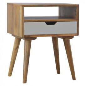 Nordic Style Bedside table with drawer Painted Fronts 24 HR SALE