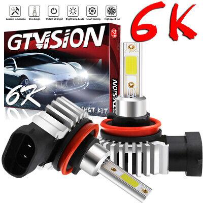 H11 H8 H9 H16 LED Fog Light Conversion Kit PLUG AND PLAY 6000K Xenon White 2400W
