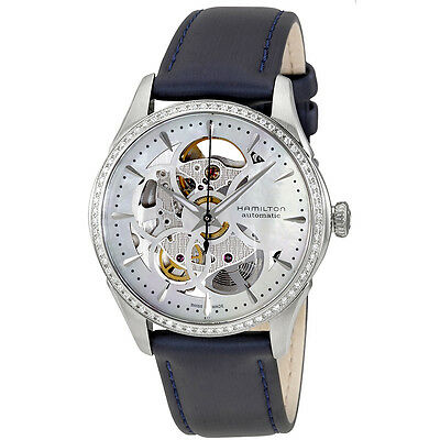 Hamilton White Mother of Pearl Skeleton Dial Ladies Watch H42405991