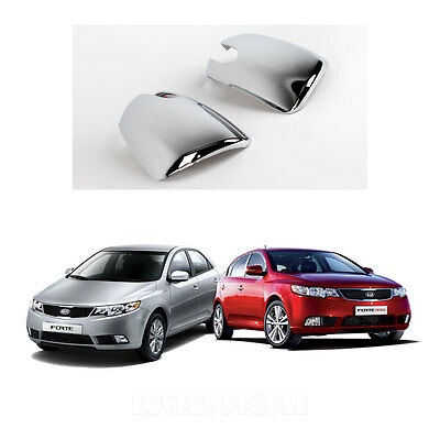 Chrome Gas//Fuel Cover Garnish Molding K155 for 2010-2012 Kia Forte 4Door
