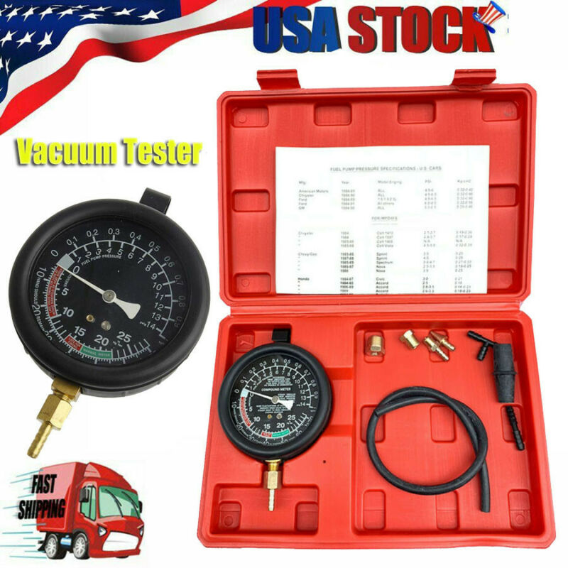 New Vacuum Tester & Fuel Pump Gauge Leak Carburetor Pressure