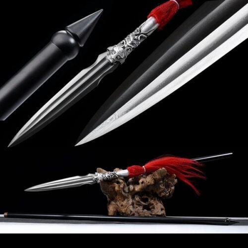 Battle Ready Spearhead Hunting Spear Sword Sharp Damascus Steel Blade Bayonet