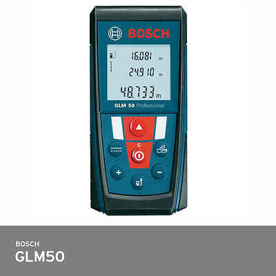 Bosch Glm 50 Laser Distance Meter 165ft Ip54 -1.5mm Accuracy Backlit Display