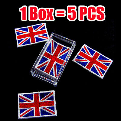 United Kingdom of Great Britain Union Jack flag Iron on patch ( 1 Box =  5 Pcs)