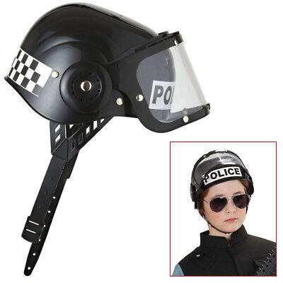 KINDER POLIZEI HELM Polizeihelm Hut Spezialeinheit SEK Jungen Kostüm Party 2822 ()