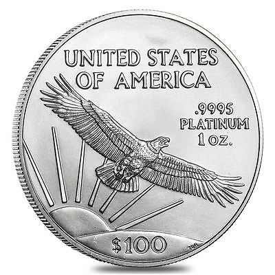 100 Platinum American Eagle 1 Oz Coin   Us Mint American Eagle Random Year