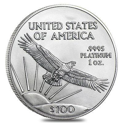$100 Platinum American Eagle 1 oz Coin - US Mint American Eagle Random Year