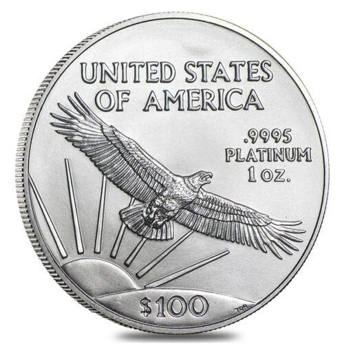 $100 Platinum American Eagle 1 oz US Mint American Eagle Random Year Coin