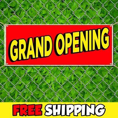 Grand Opening Advertising Vinyl Banner Sign Flag Many Sizes Free Grommets