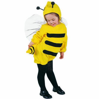 Biene Mädchen Kostüm (BIENE KOSTÜM KINDER Karneval Fasching Hummel Jungen Mädchen Flügel Mütze # 3600)