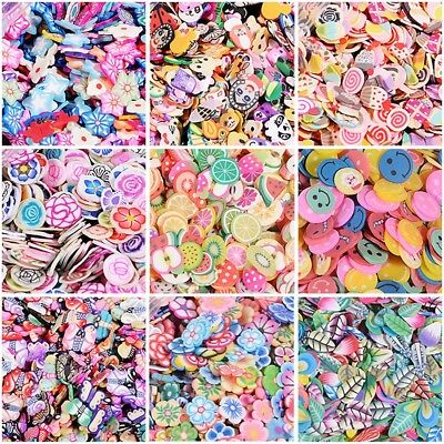 1000x Nail Art Mixed Stickers Design Fimo Slices Polymer Clay Decor Manicure US ()