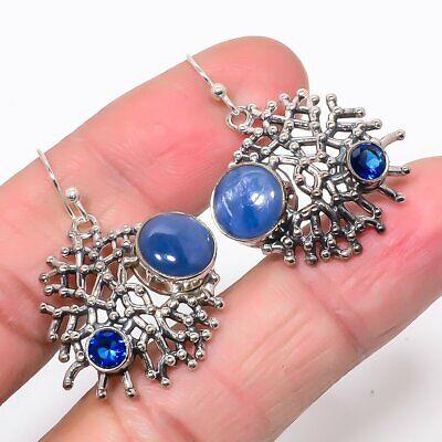 Austrian Kyanite Sapphire Gemstone 925 Sterling Silver Earring 1.46 UJE283-23 - $0.01