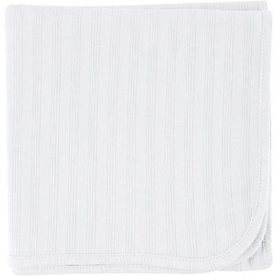 Touched by Nature Baby Boys Girls Organic Cotton Receiving Blanket White 40