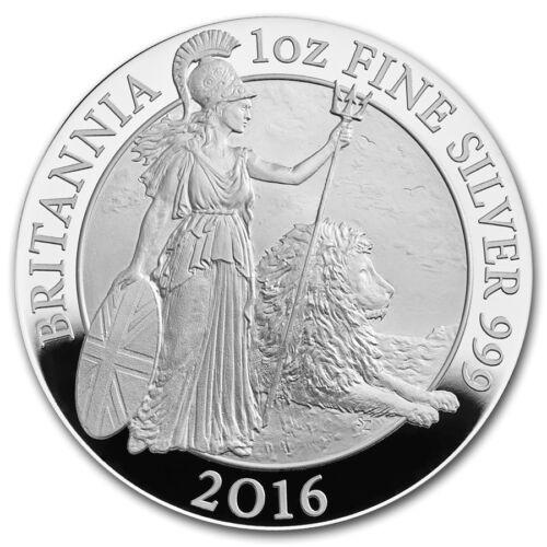 2016 Great Britain 2 Pound 1 Oz Proof Silver Britannia with Box & COA