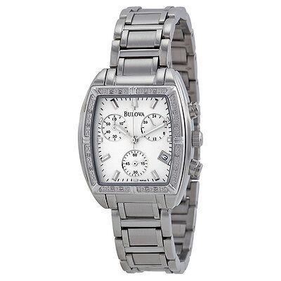 Bulova Women's 96R163 Stainless Steel Bracelet Watch with Diamond Accents