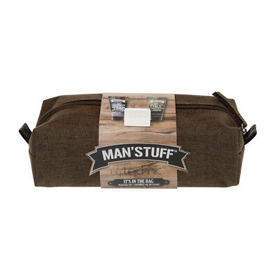 MAN'STUFF by TECHNIC IT'S IN THE BAG Wash Bag Set  great Father's Day gift - Father's Day Stuff