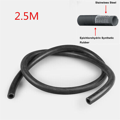 2.5m 12mm Rubber Reinforced Fuel Hose Engine Oil Gas Dlivery Line Pipe Car Auto