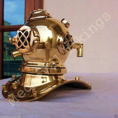 "Vintage Mini Diving Divers Helmet Solid Brass Mark V Deep Sea Diver Helmet 6"""