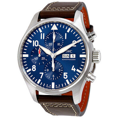 IWC Pilot Midnight Automatic Chronograph Blue Dial Mens Watch IW377714