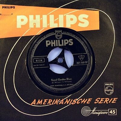 "7"" LOUIS ""SATCHMO"" ARMSTRONG Royal Garden Blues / Muskrat Ramble PHILIPS D 1959"