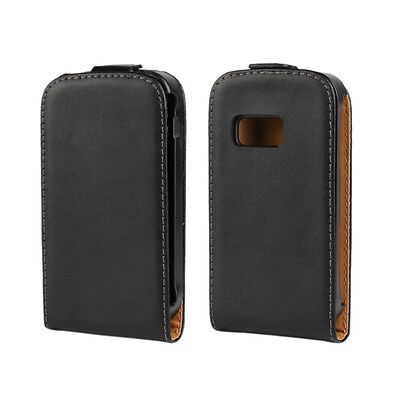 Gentle For Samsung Galaxy mini 2 S6500 Genuine Leather Flip Case Open Up Cover (Samsung Mini 2 Case)