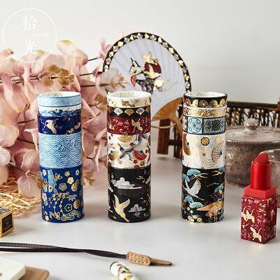 Decorative Retro Divine Gold Washi Tape Set Japanese Paper Stickers Scrapbooking Japanese Washi Paper Tape