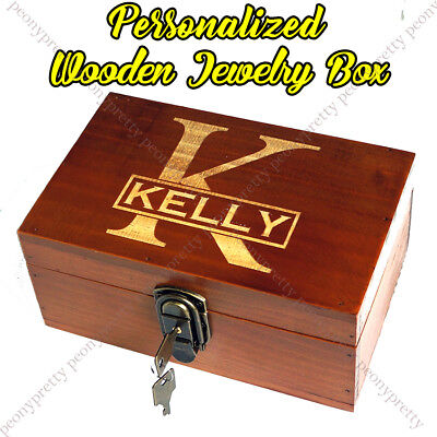 - Personalized Engraving Retro Wooden Jewelry Box Custom Bridesmaid Birthday Gift