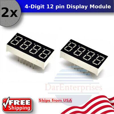 4 Digit 7 Segment Cathode Red Led Display 0.56 Sm420564 For Pi Pms