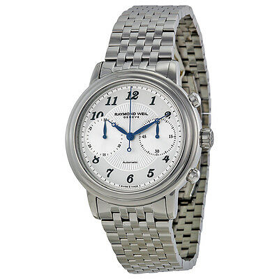 Raymond Weil Maestro Automatic Chronograph Silver Dial Mens Watch 4830-ST-05659