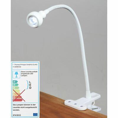 LED Lámpara de Escritorio con Pinza para Leer Luz Mesa Trabajo