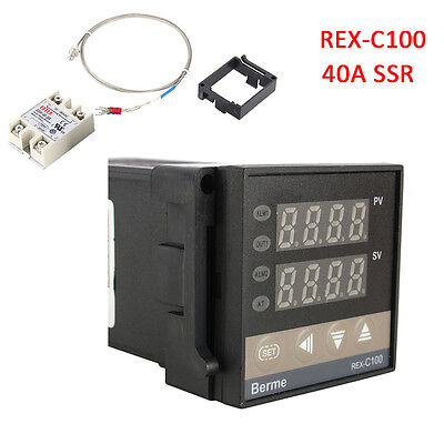 Pid Rex-c100 Temperature Controller 40a Solid State Relay K Thermocouple Gd