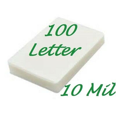 100 Letter 10 Mil Laminating Pouches Laminator Sheets 9 X 11-12 Scotch Quality