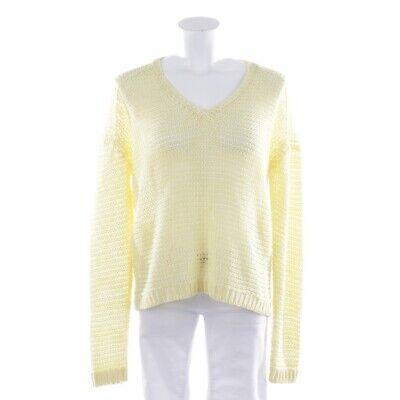 Iris Von Arnim Knitted Pullover Size S Yellow White Ladies Top Summer Oversized