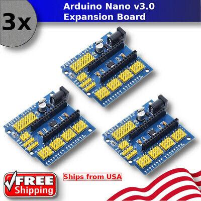 3x - Arduino Nano V3.0 Io Expansion Board Micro Sensor Shield Uno R3 Mini