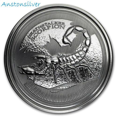 2017 1 oz Deathstalker Scorpion - BU Encapsulated - Prooflike .999 Silver