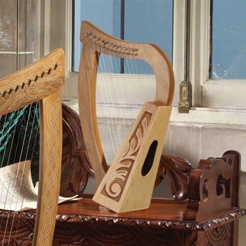 Replica Medieval 10th Century Celtic Walnut Spruce Birch Full 12 String Harp NEW